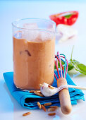 Spicy tomato and pepper smoothie with Tabasco
