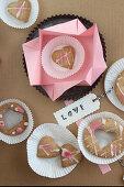 Gluten-free heart shaped shortbread cookies