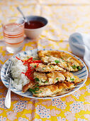 Egg Foo Yung with chicken (omelette dish, China)