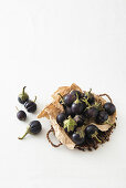 Small round aubergines from Liguria