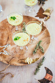Pineapple and cucumber gazpacho for Christmas