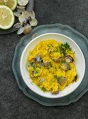 Risotto vongole – saffron risotto with clams
