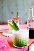 Piña Colada (a cocktail made with rum, coconut cream and pineapple juice)