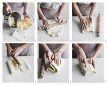 How to make puff pastry with softened cold butter