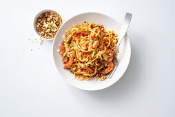 Bigoli alla busara (pasta with spicy bread crumbs, Italy)