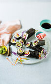 Tuna and cauliflower nori rolls