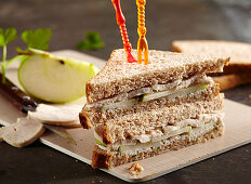 Chicken breast and apple sandwiches