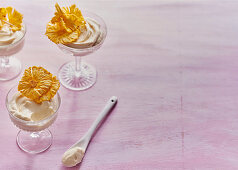 Coconut and ginger 'syllabub'