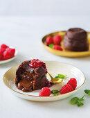 Chocolate lava fondants