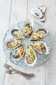 Oysters with melon salsa (Australia)
