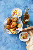 Bacon and cheese-stuffed jalapeno poppers