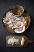 Ingredients for Galician style scallops