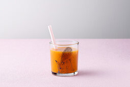 A mango and carrot smoothie
