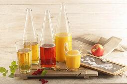 Various juices (apple, currant, orange)