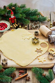 Cutting out Christmas biscuits