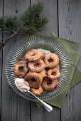 Apple fritters with chestnut cream