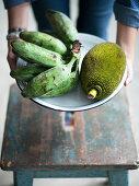 Jackfruit and plantanes