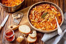 Qyster mushroom and veggies soup