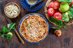 Almond apple pie