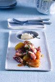 Burrida di polpo (Oktopus-Kartoffel-Eintopf, Italien)