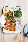 Crumbed king George whiting