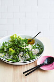 Ultimate green salad with eschalot dressing