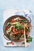 Sichuan beef and buckwheat stir-fry