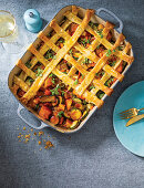 Sweet and sour vegetable pie