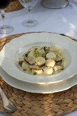 Ricotta and marjoram gnocchetti with porcini mushrooms