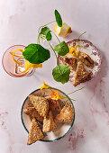 Mushroom pâté and sesame toast
