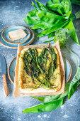 Wild garlic flatbread