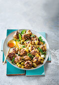 Lemony israeli meatballs with capers