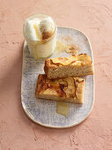Sweet milk and honey focaccia with apple and cinnamon
