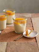 Milk-and-honey pudding with orange