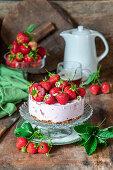 No Bake Erdbeer-Käsekuchen
