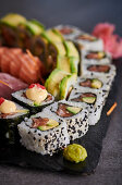 A sushi platter (Japan)