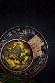 Potato beet soup