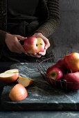 Halving apples