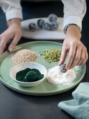 Making spirulina energy balls