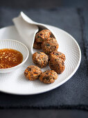 Dulse kelp vegetable fritters