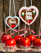 Paradise apples (red candied apples)