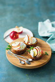 Coconut and nectarine tartlets