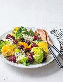 Pickled beet and salanova salad