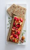 Cardoon and chestnut terrine with roast radishes