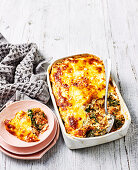 Turkey and Kale lasagne (Low Carb)