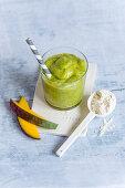 A mango and avocado smoothie