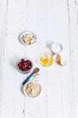 Ingredients for mug muffin