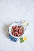 Beetroot and buckwheat risotto