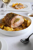 Roast pork with pistachio and rosemary filling