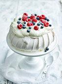 Marshamallow Pavlova with berries